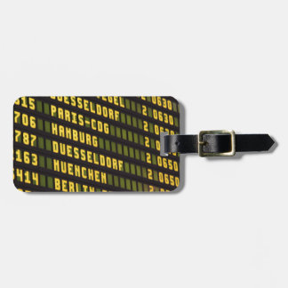 Germany Departure Board Luggage Tag