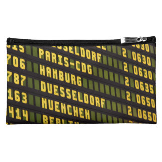 Germany Departure Board Makeup Bag