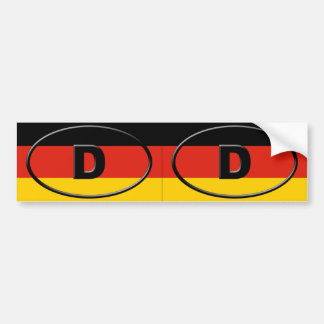 Germany - Deutschland - European oval Bumper Sticker