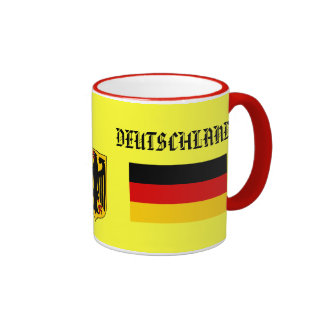 GERMANY* / DEUTSCHLAND Flag & Coat of Arms Mug