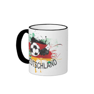Germany Deutschland football  fußball Ringer Coffee Mug