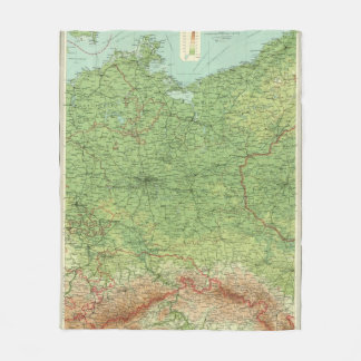 Germany eastern section fleece blanket