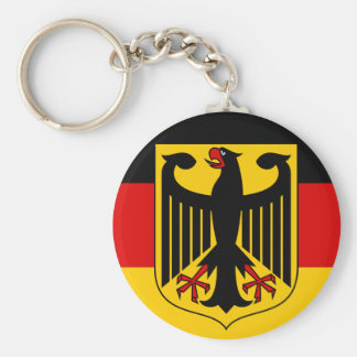 germany emblem basic round button key ring