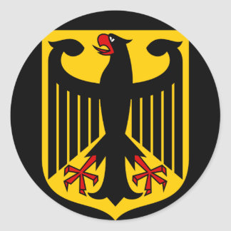 germany emblem classic round sticker