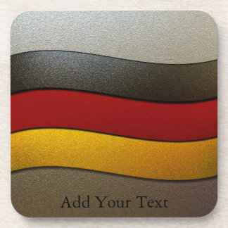 Germany Flag Colors-Chrome by Shirley Taylor Drink Coasters