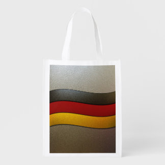 Germany Flag Colors-Chrome Grocery Bags