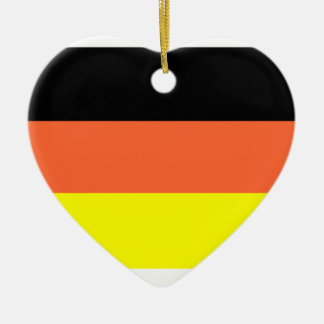 Germany Flag Double-Sided Heart Ceramic Christmas Ornament