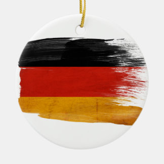 Germany Flag Round Ceramic Decoration