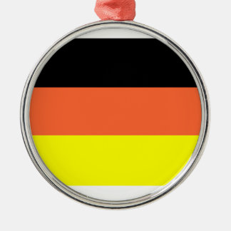 Germany Flag Round Metal Christmas Ornament