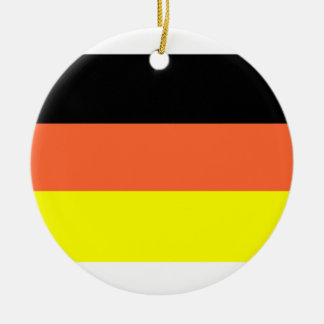 Germany Flag Double-Sided Ceramic Round Christmas Ornament