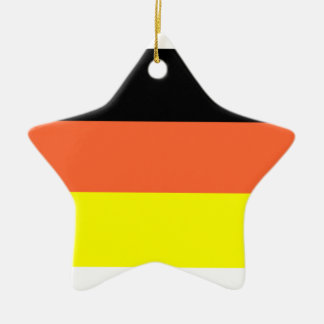 Germany Flag Double-Sided Star Ceramic Christmas Ornament
