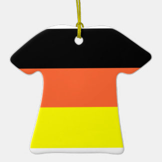 Germany Flag Double-Sided T-Shirt Ceramic Christmas Ornament