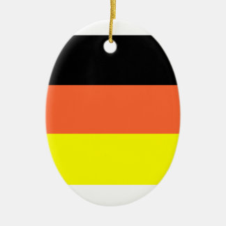 Germany Flag Double-Sided Oval Ceramic Christmas Ornament