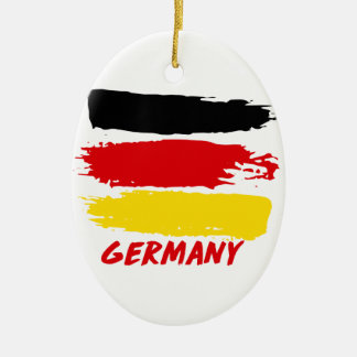 Germany flag designs christmas ornament