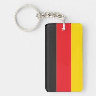GERMANY FLAG Double-Sided RECTANGULAR ACRYLIC KEY RING