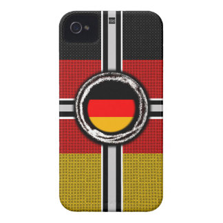 Germany Flag Emboss iPhone 4 ID Case