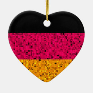 Germany Flag glitter ornament