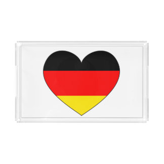 Germany Flag Heart Acrylic Tray