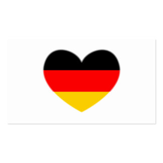 Germany Flag Heart Business Card Templates