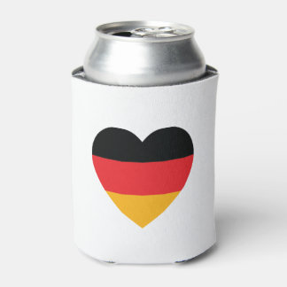 Germany Flag Heart Can Cooler