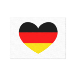 Germany Flag Heart Canvas Print