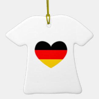 Germany Flag Heart Ceramic T-Shirt Decoration