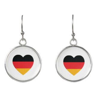 Germany Flag Heart Drop Earrings