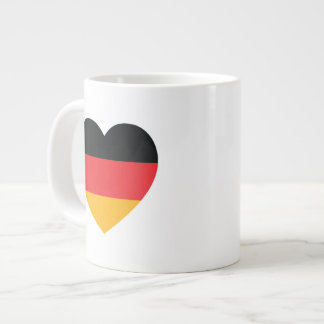 Germany Flag Heart Jumbo Coffee Mug