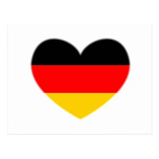 Germany Flag Heart Postcard