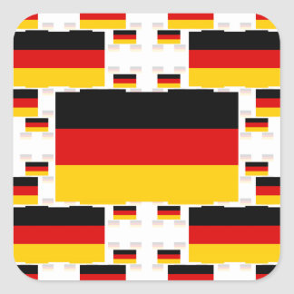 Germany Flag in Multiple Colorful Layers 2 Square Sticker