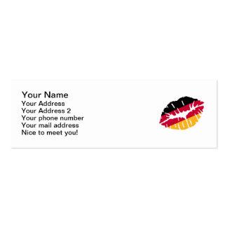 Germany flag kiss business card
