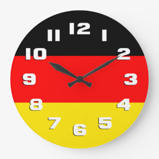 Germany Flag Large Clock