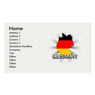 Germany Flag Map 2.0 Business Card Template