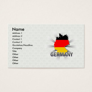 Germany Flag Map 2.0 Business Card