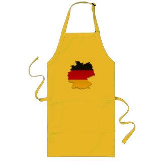 Germany Flag Map_2 Long Apron