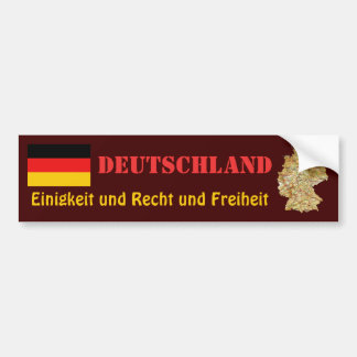 Germany Flag + Map Bumper Sticker