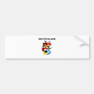 germany flag map bumper sticker