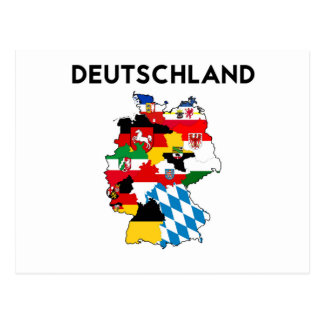 germany flag map postcard
