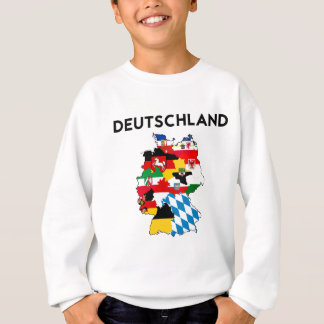 germany flag map sweatshirt