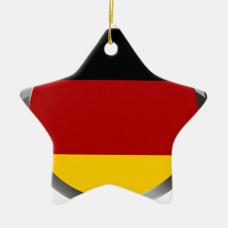 Germany Flag of germany Deutschland Flagge Ceramic Star Decoration