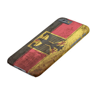 Germany Flag on Old Wood Grain Barely There iPhone 6 Case