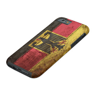 Germany Flag on Old Wood Grain Tough iPhone 6 Case