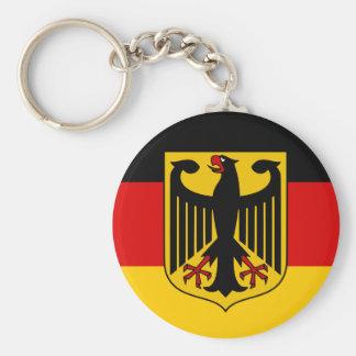 Germany flag quality basic round button key ring