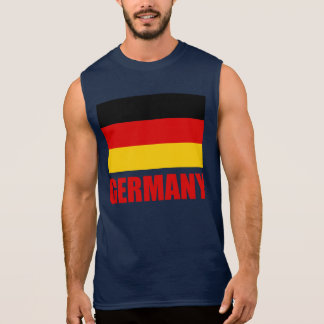 Germany Flag Red Text Sleeveless T-shirts