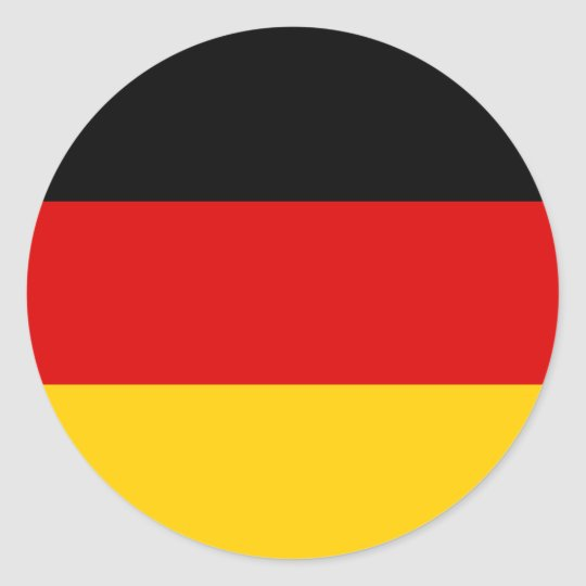 Germany Flag Round Stickers