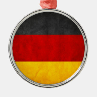 Germany Flag Silver-Colored Round Decoration