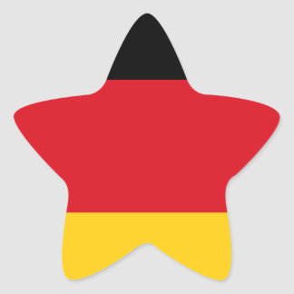 Germany flag star sticker