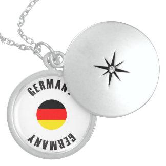 Germany Flag Wheel Locket Necklace