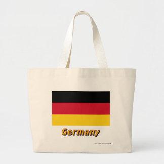 Germany Flag with Name Jumbo Tote Bag