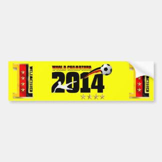 Germany Flag World Champion 2014 Soccer Bumper Sticker